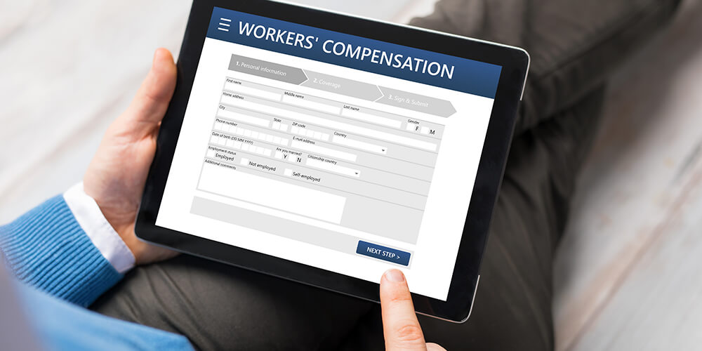 man applying for workers' compensation claim